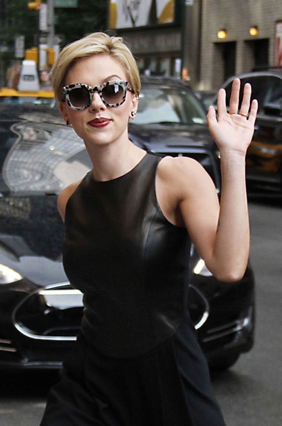 Scarlett Johansson à New York.