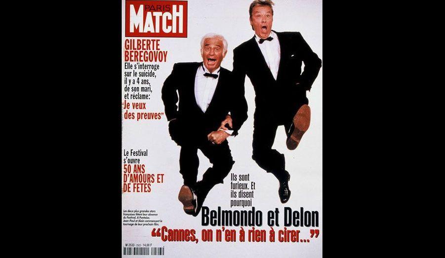 Le 15 mai 1997, il retrouve Delon