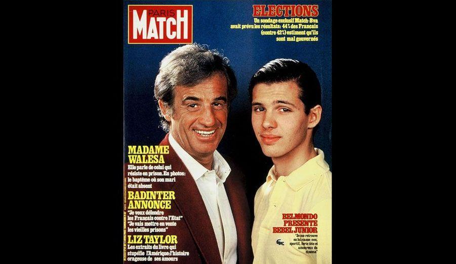 Le 2 avril 1982, avec son fils Paul
