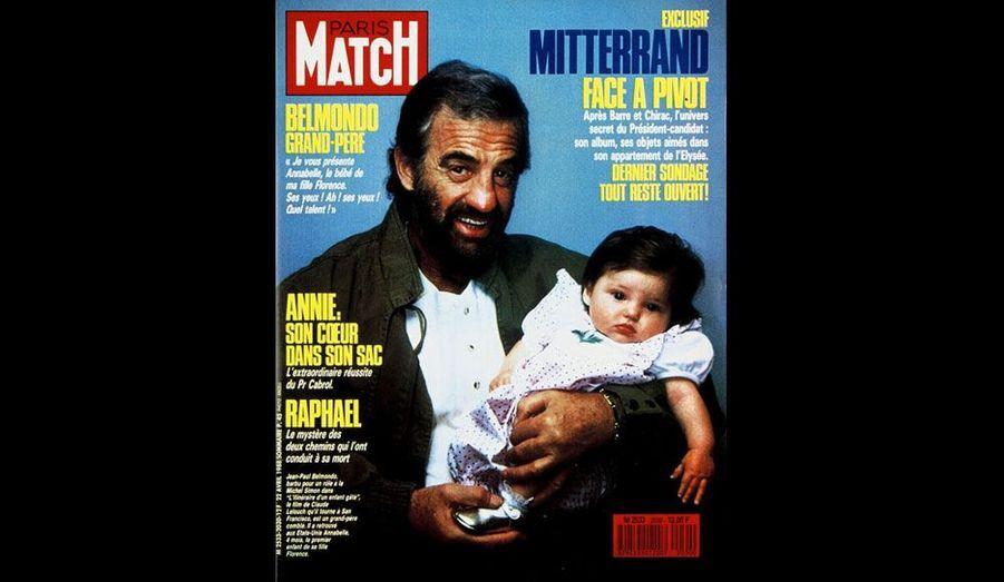 Le 22 avril 1988, avec sa petite-fille Annabelle