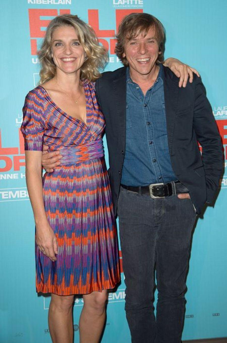 Olivia Côte et Pascal Demolon à la première de «Elle l'adore» à Paris le 15 septembre 2014.