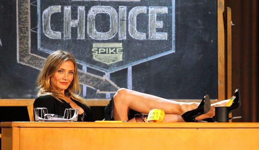 Cameron Diaz a présenté hier la 5e cérémonie des Spike TV's Guys Choice awards, à Culver, en Californie.