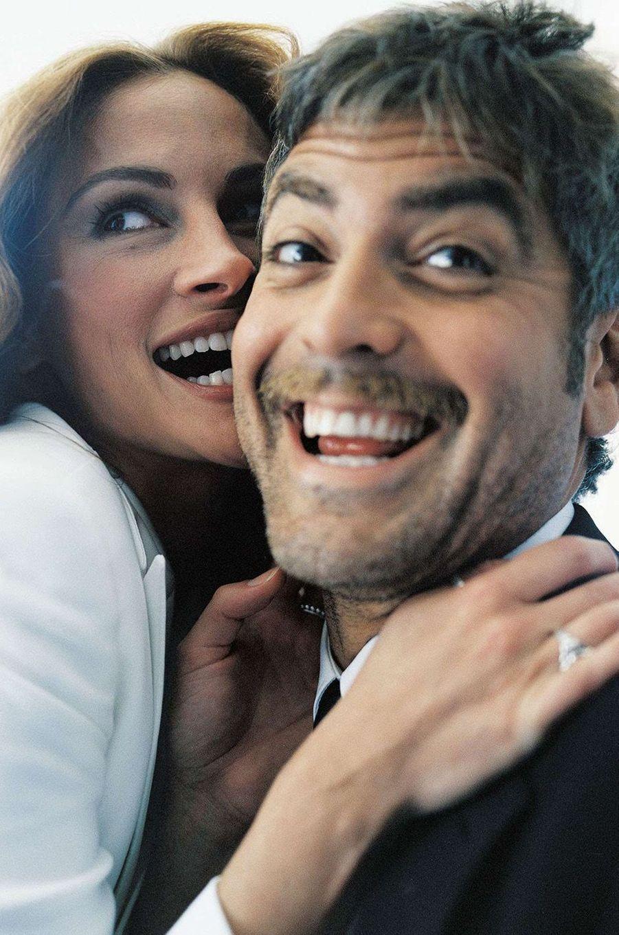 Julia Roberts et George Clooney, en 2001