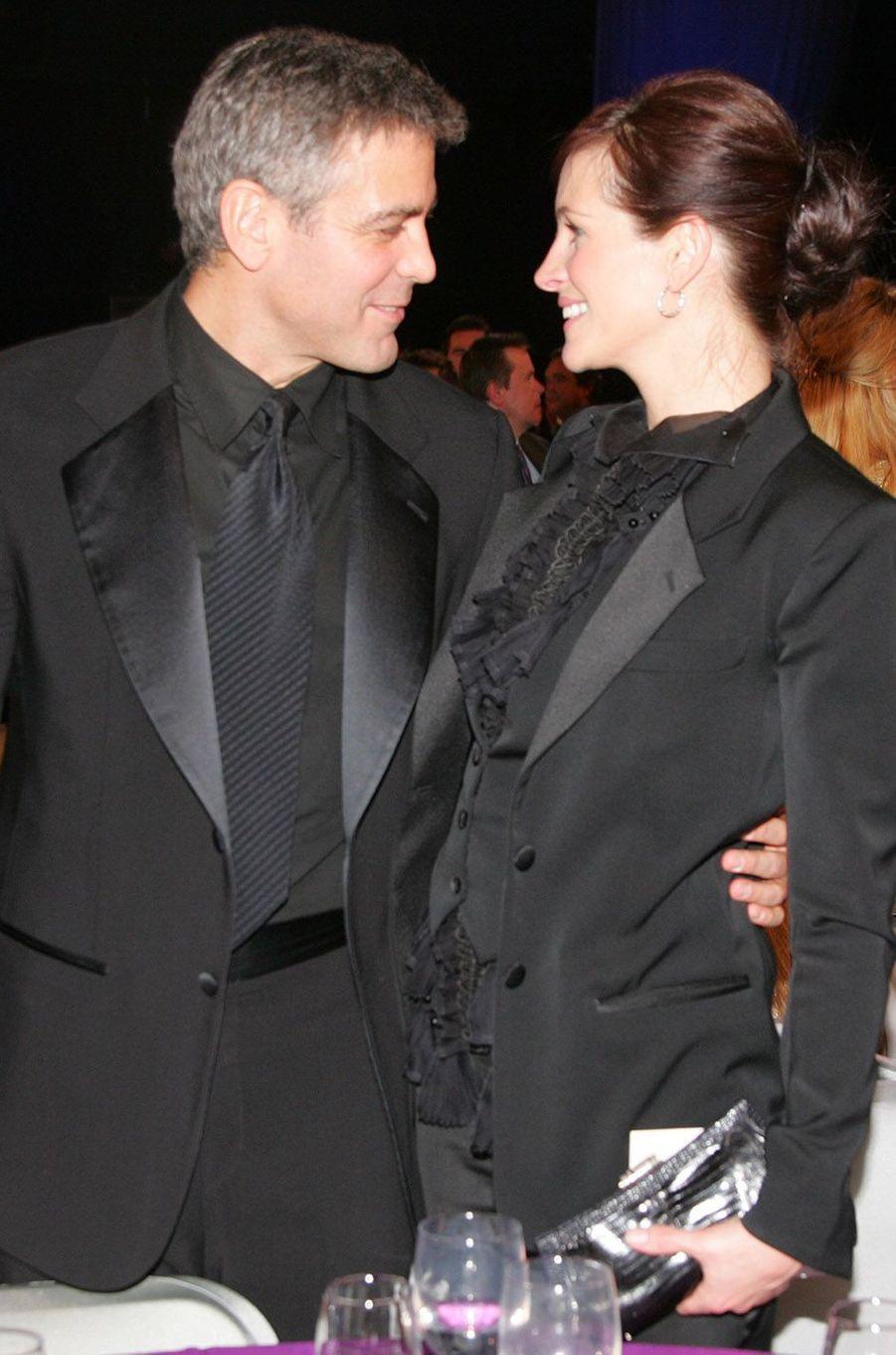 Julia Roberts et George Clooney, en 2011