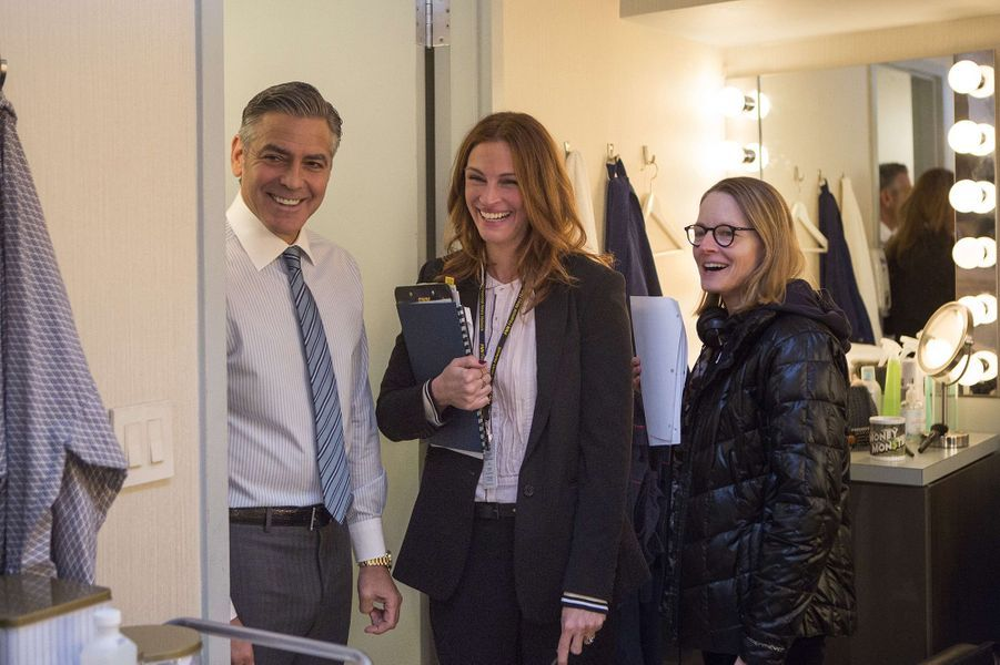 "Julia Roberts et George Clooney sur le tournage de ""Money Monster"""