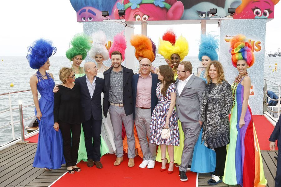 Justin Timberlake et Anne Kendrick à Cannes, le 11 mai 2016.