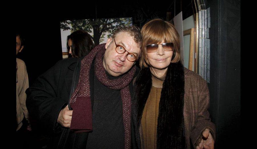 Dominique Besnehard et Nadine Trintignant.