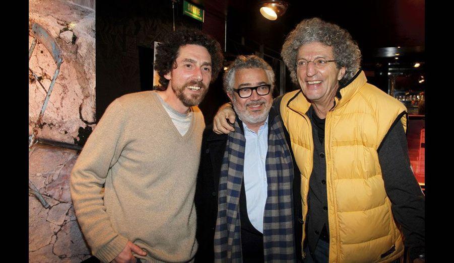 Simon Lelouch, Paul Boujenah (frère de Michel) et Elie Chouraqui.