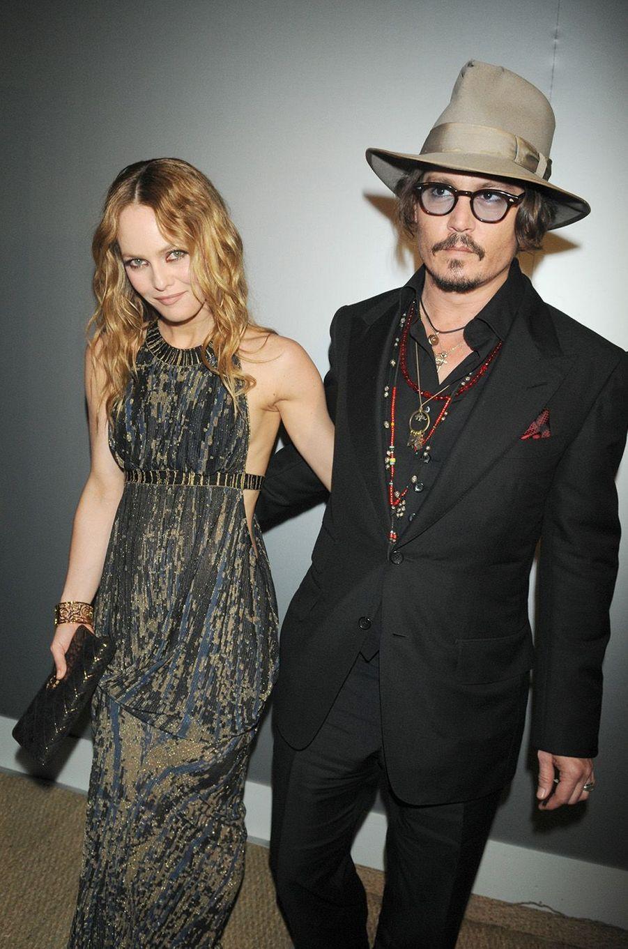 Vanessa Paradis avec son ex-époux Johnny Depp au Festival de Cannes 2010