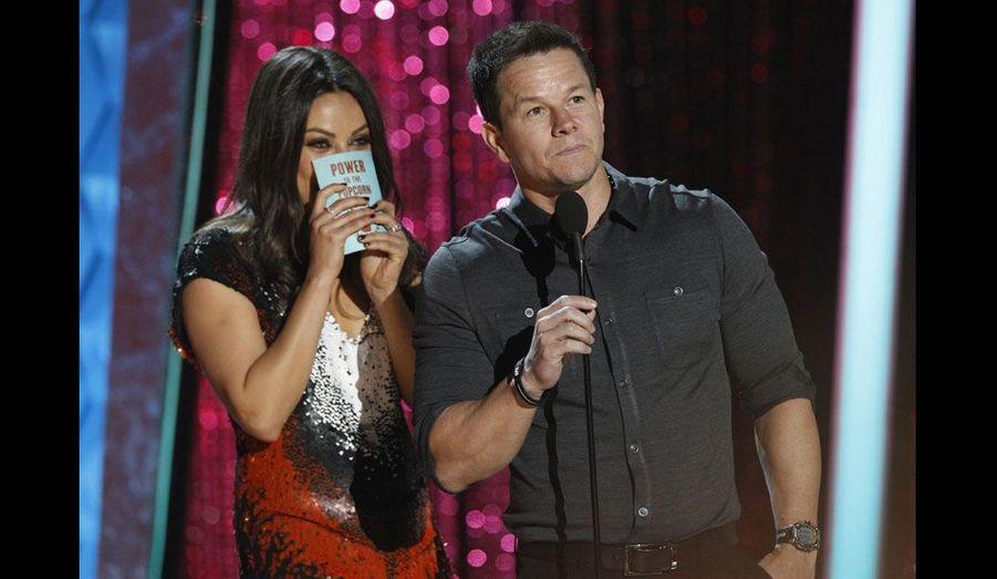 Les deux comédiens ont remis à Jennifer Aniston sa récompense de «meilleure ordure à l'écran» pour «Comment tuer son boss».
