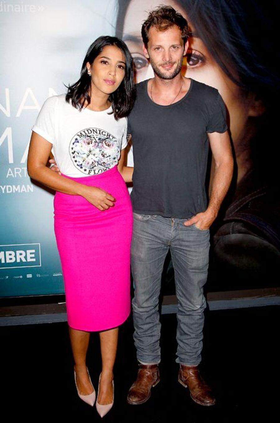 Leïla Bekhti et Nicolas Duvauchelle à l'avant-première de «Maintenant ou jamais» à Paris le 2 septembre 2014.