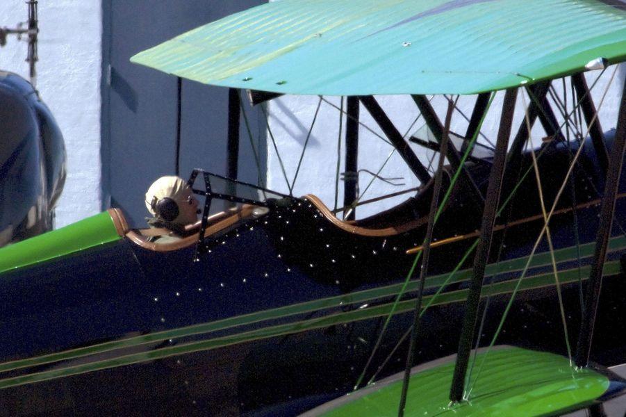 Harrison Ford à bord de son Aircraft vert