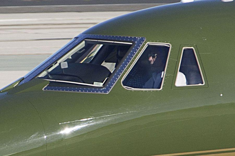 Harrison Ford à bord de son avion privé