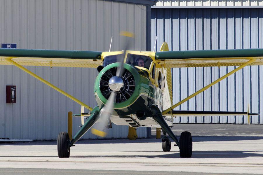 Harrison Ford à bord de son Dehavilland DHC-2MK I(L20A)