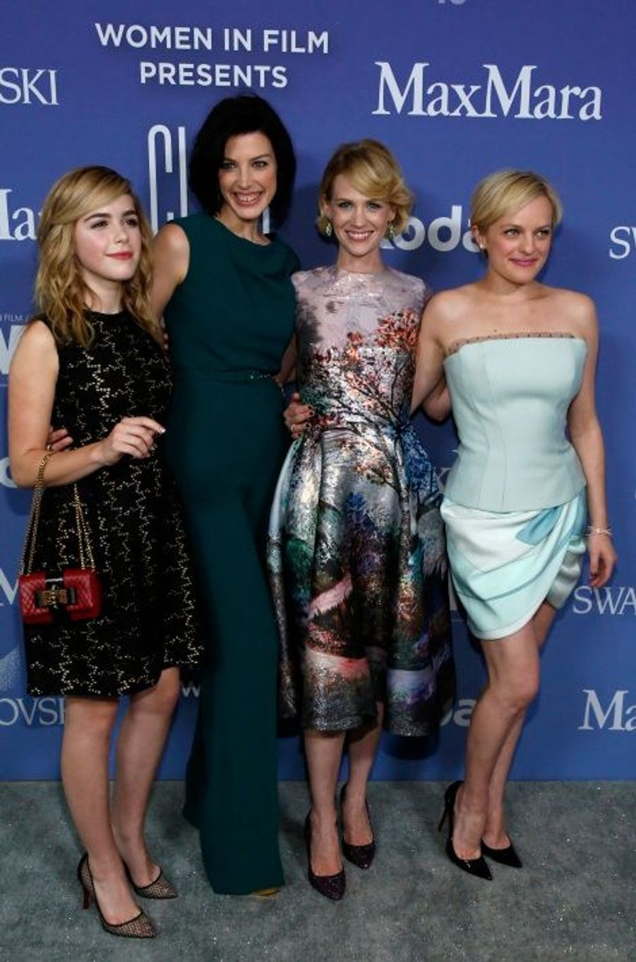 Kiernan Shipka, Jessica Pare, January Jones et Elisabeth Moss.