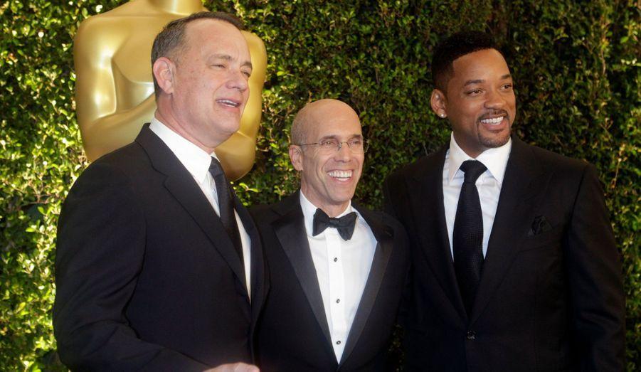Tom Hanks, Jeffrey Katzenberg et Will Smith