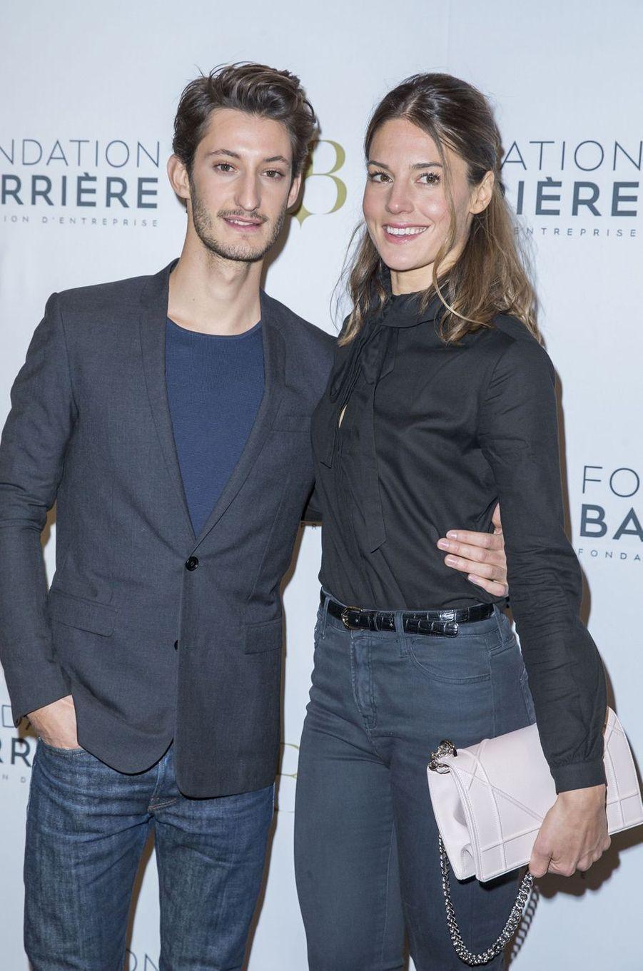 Pierre Niney et Natasha Andrews à Paris le 14 mars 2016