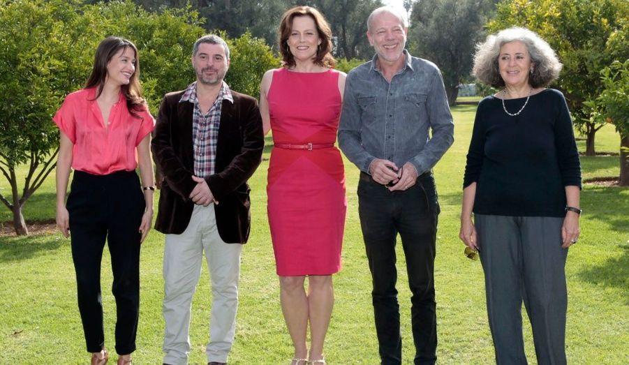 Le jury pour le prix du meilleur court-métrage. De gauche à droite: Marie Gillain, Pierre Salvadori, Sigourney Weaver, Pascal Greggory et Farida Benlyazid.