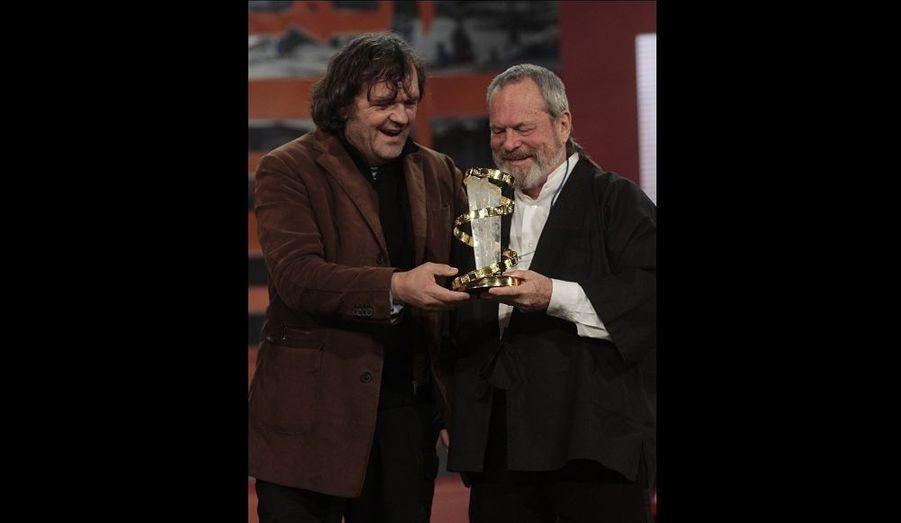 Le réalisateur a reçu un hommage pour sa filmographie, donné par Emir Kusturica.