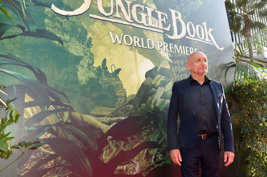"""Ben Kingsley à l'avant-première du """"Livre de la Jungle"""" à Los Angeles, le 4 avril 2016"""