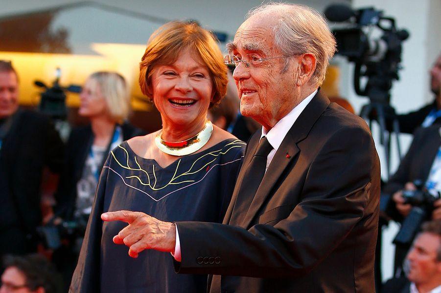 Macha Méril et Michel Legrand à la 71e Mostra de Venise, le 28 août 2014.