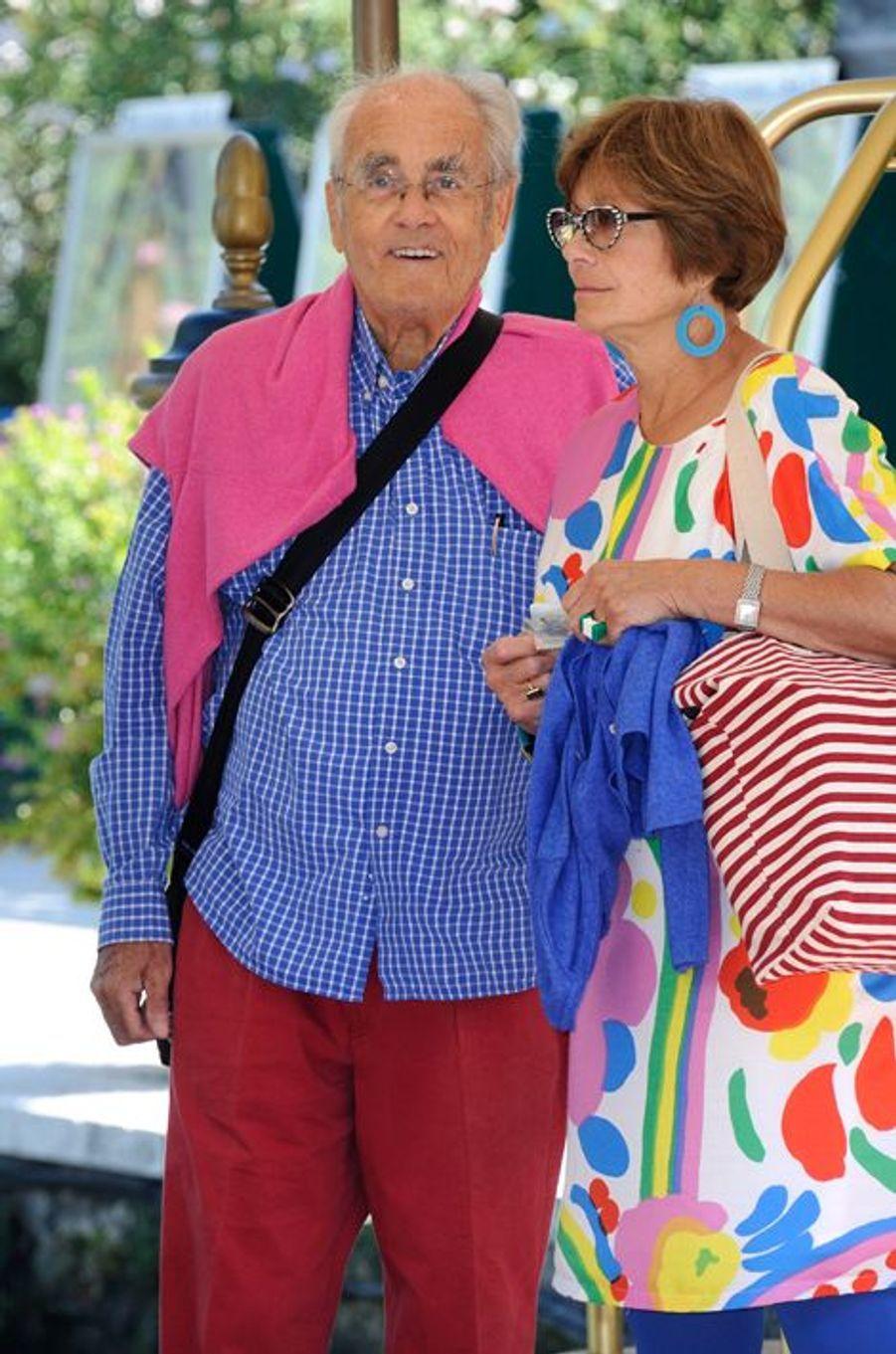Macha Méril et Michel Legrand à Venise, le 29 août 2014.