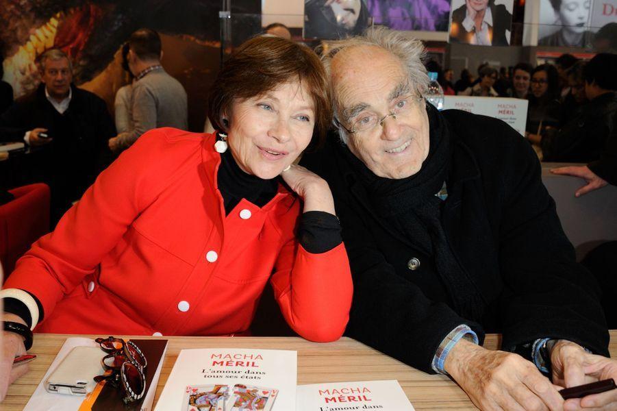 Macha Méril et Michel Legrand au Salon du livre à Paris, le 23 mars 2014.