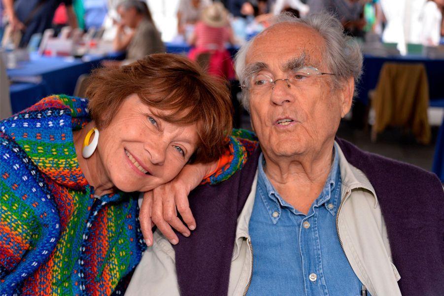 Macha Méril et Michel Legrand au Salon du livre de Nice, le 15 juin 2014.