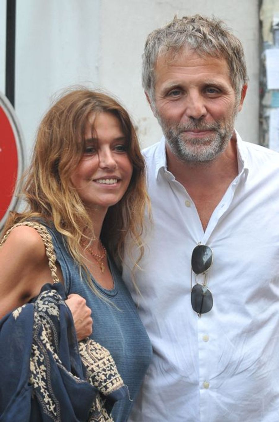 Stéphane Guillon au mariage de Macha Méril et Michel Legrand à Paris, le 18 septembre 2014.