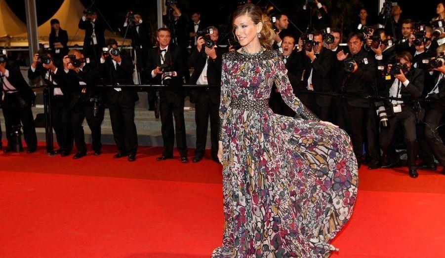 L'actrice américaine Sarah Jessica Parker, venue assister à la projection du film Wu Xia, présenté durant le 64ème Festival de Cannes.