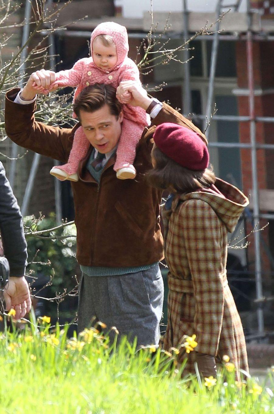 Brad Pitt à Londres le 31 mars 2016