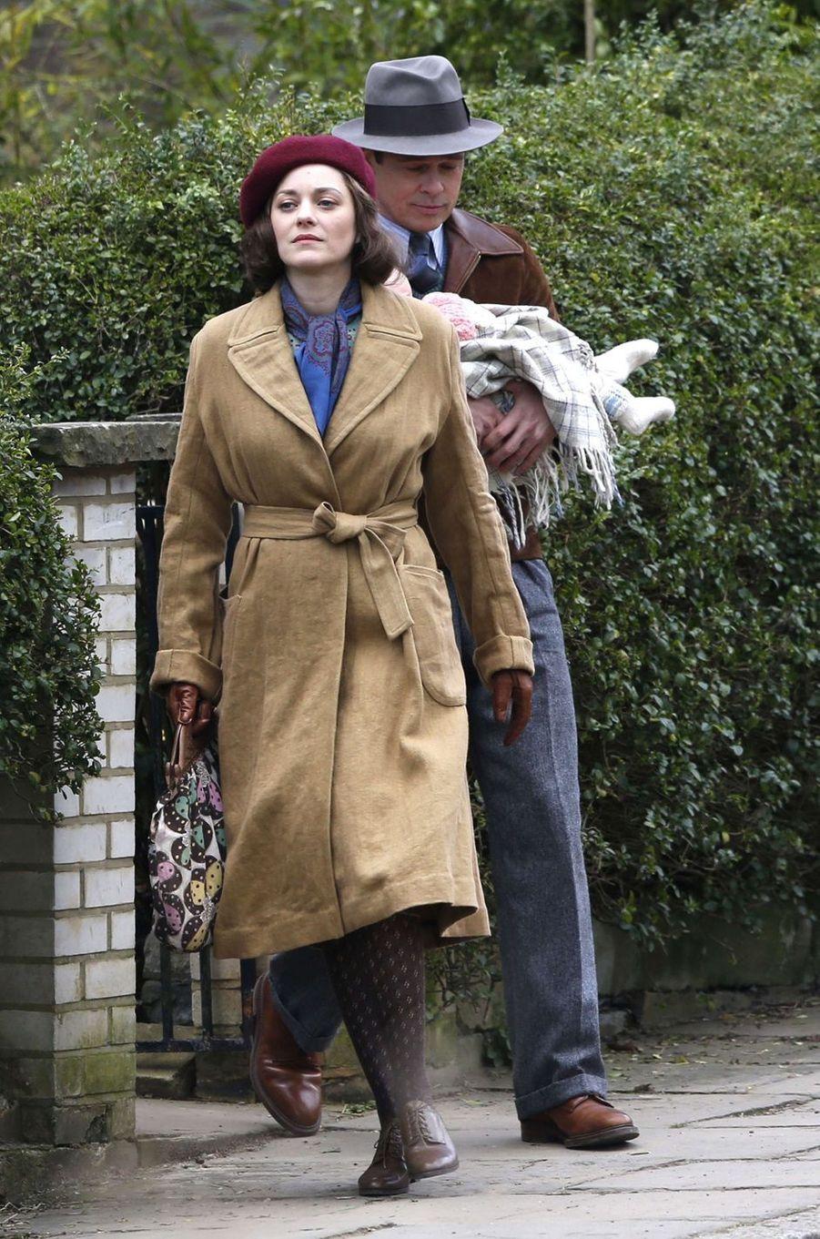 Marion Cotillard et Brad Pitt à Londres le 31 mars 2016