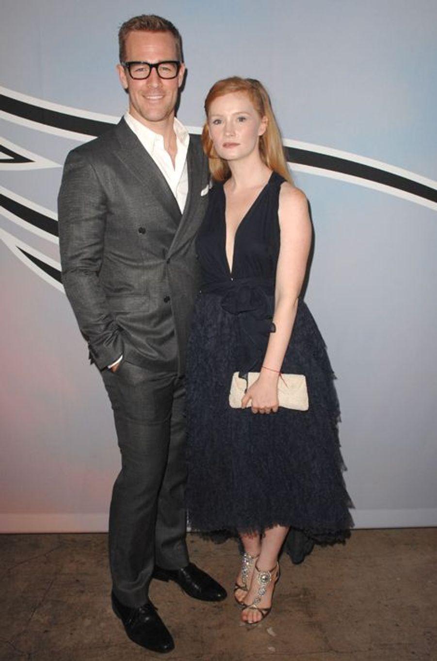 James Van Der Beek et Kimberly Brook à Los Angeles le 25 octobre 2014