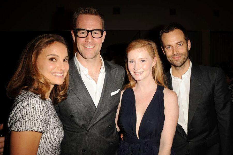 Natalie Portman, James Van Der Beek, Kimberly Brook et Benjamin Millepied à Los Angeles le 25 octobre 2014