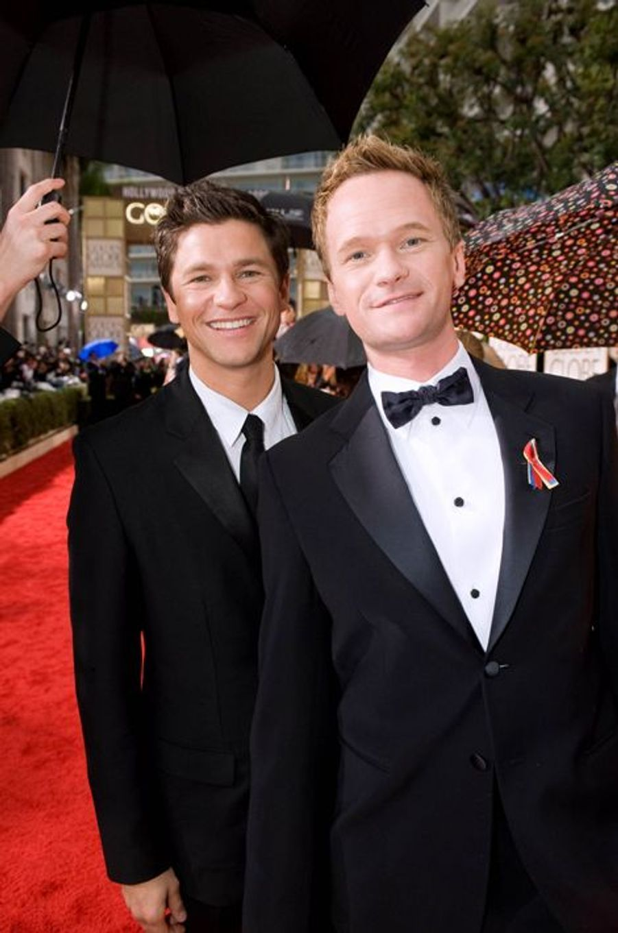 David Burtka et Neil Patrick Harris à Los Angeles, le 17 janvier 2010.