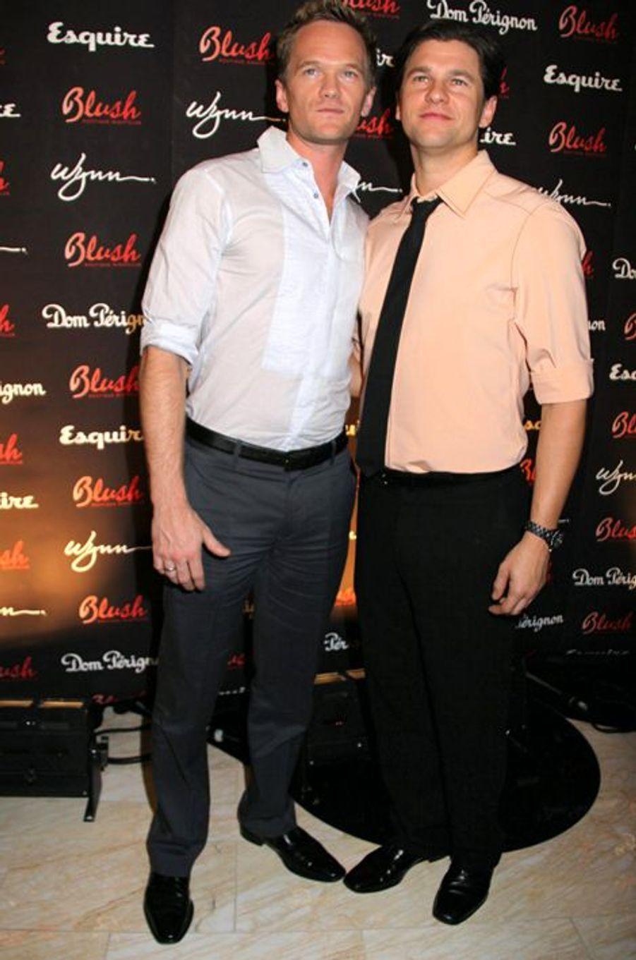 Neil Patrick Harris et David Burtka à Las Vegas, le 18 octobre 2008.