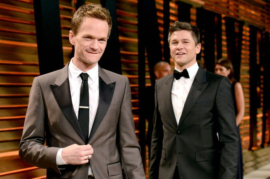 Neil Patrick Harris et David Burtka à West Hollywood, le 2 mars 2014.