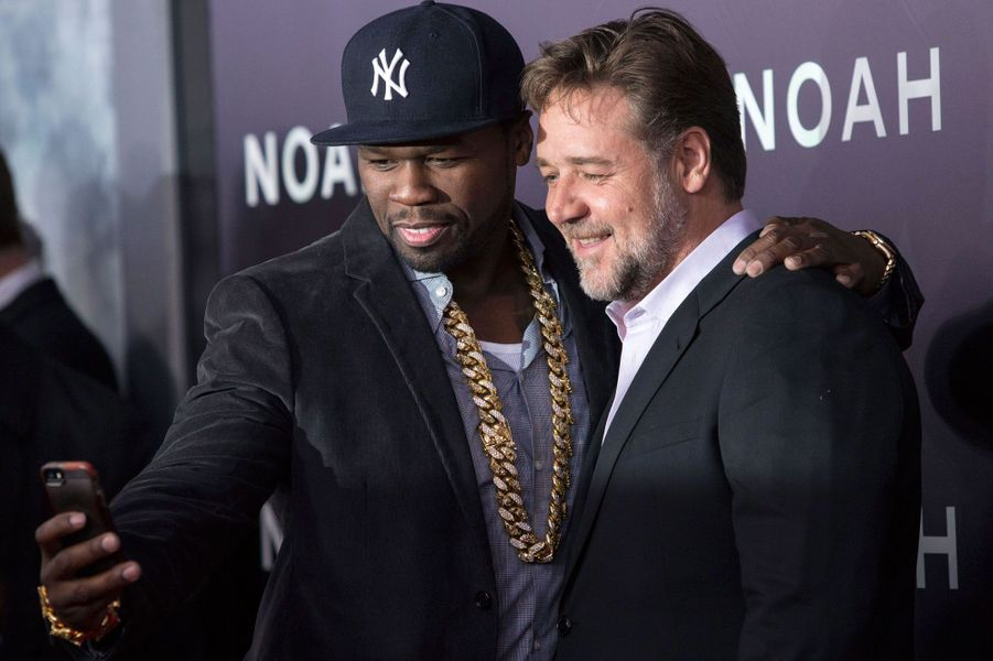 Russell Crowe avec 50 Cent Jackson