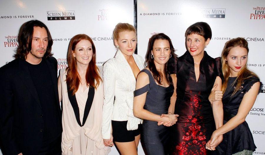 Keanu Reeves et le casting féminin du film ont assisté à l'avant-première newyorkaise de La Vie secrète de Pippa Lee, dimanche.