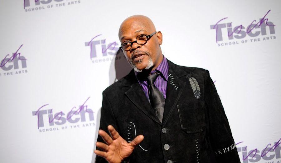 Samuel L. Jackson a fait une apparition très remarquée au gala donnée par la Tish School of the Art de New York, réputée pour son enseignement cinématographique.