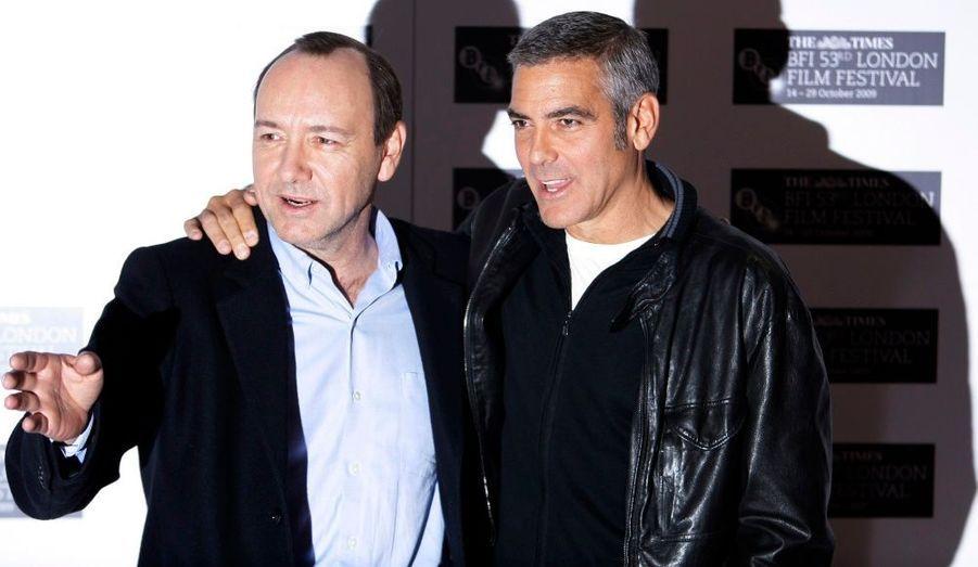 """L'Américain Georges Clooney sera prochainement à l'affiche avec Kevin Spacey dans le film """"the men who stares at goats"""""""