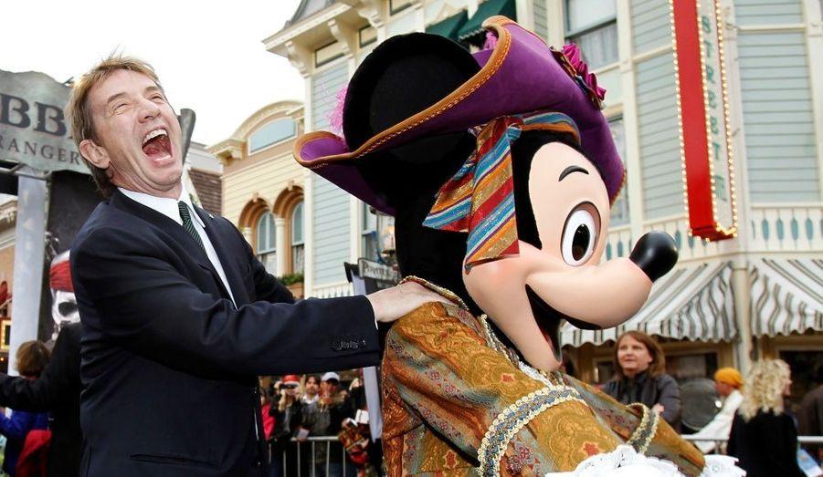Plusieurs stars du cinéma ont fait le déplacement jusqu'au parc Disneyland. Ici, le Canadien Martin Short.