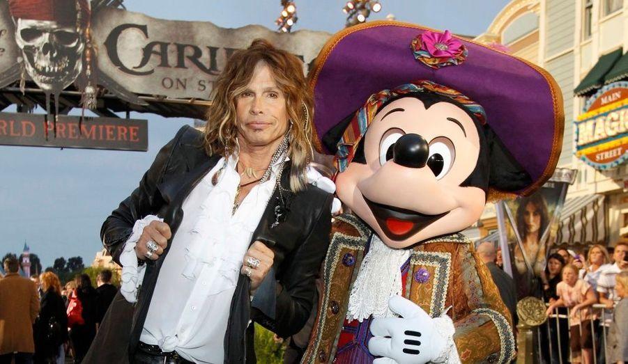 "Steven Tyler, chanteur du groupe de hard rock ""Aerosmith""."