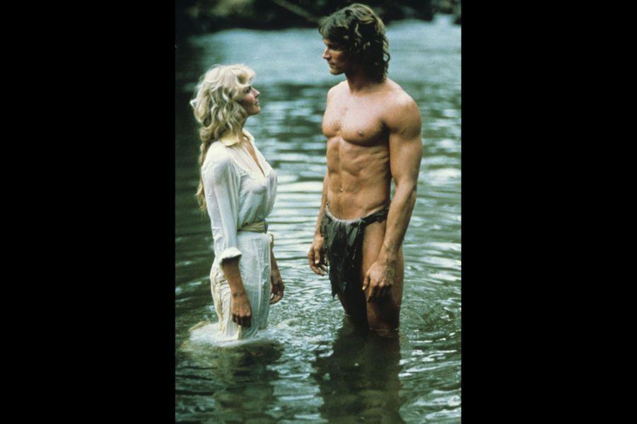 """Miles O'Keeffe dans """"Tarzan l'homme singe"""" de John Derek 1981"""