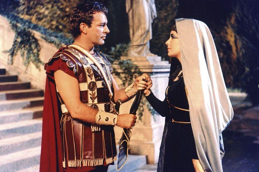 "Richard Burton (et Liz taylor) dans ""Cléopâtre"" de Joseph Mankiewicz"