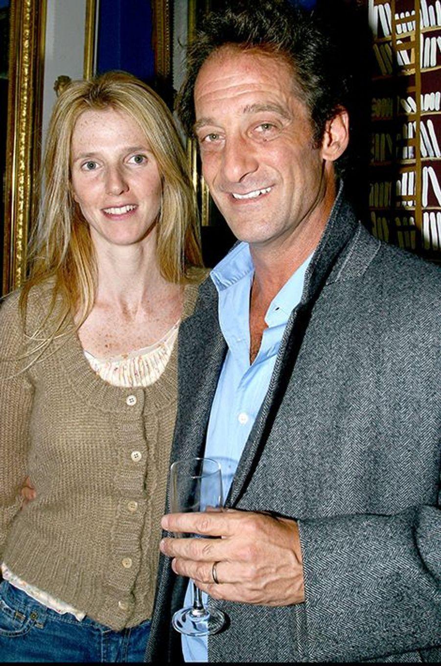 Sandrine Kiberlain et Vincent Lindon, en septembre 2003.