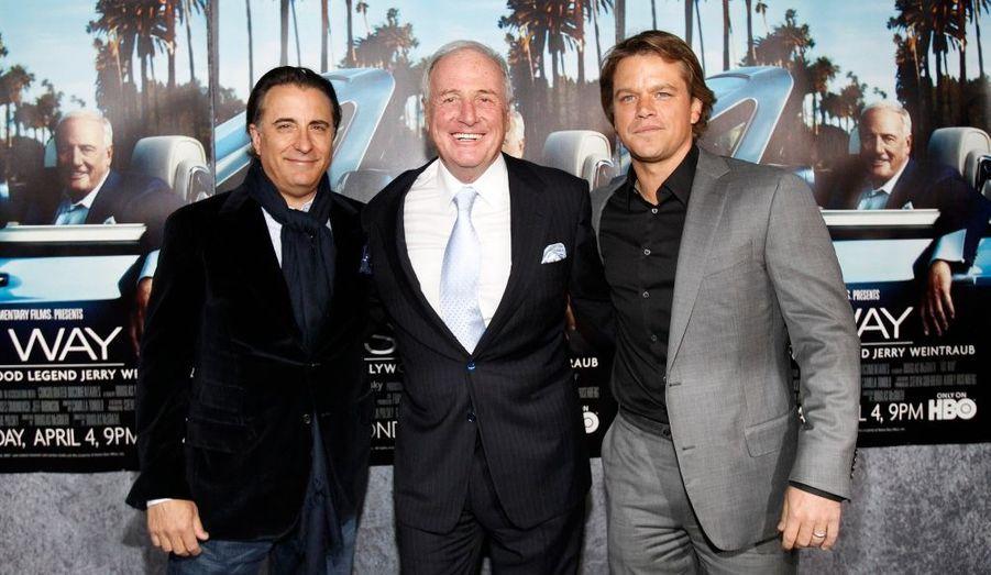 Andy Garcia, Jerry Weintraub et Matt Damon