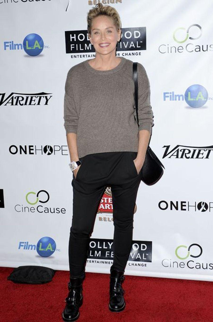 Sharon Stone à l'ouverture du Festival du Film d'Hollywood le 16 octobre 2014