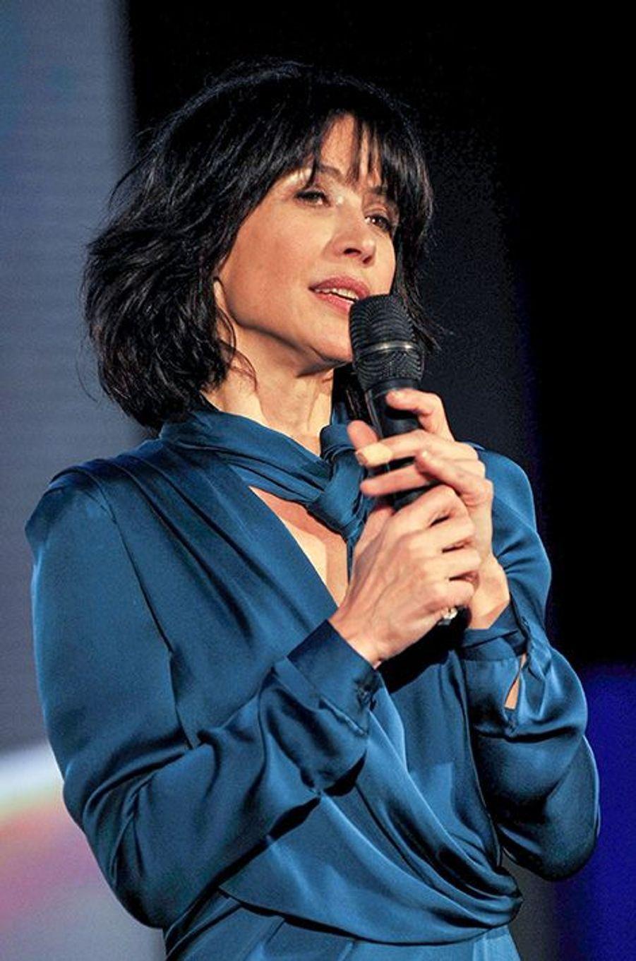 """Sophie Marceau à Jakarta pour le festival """"Goût de France"""", le 20 mars 2016"""