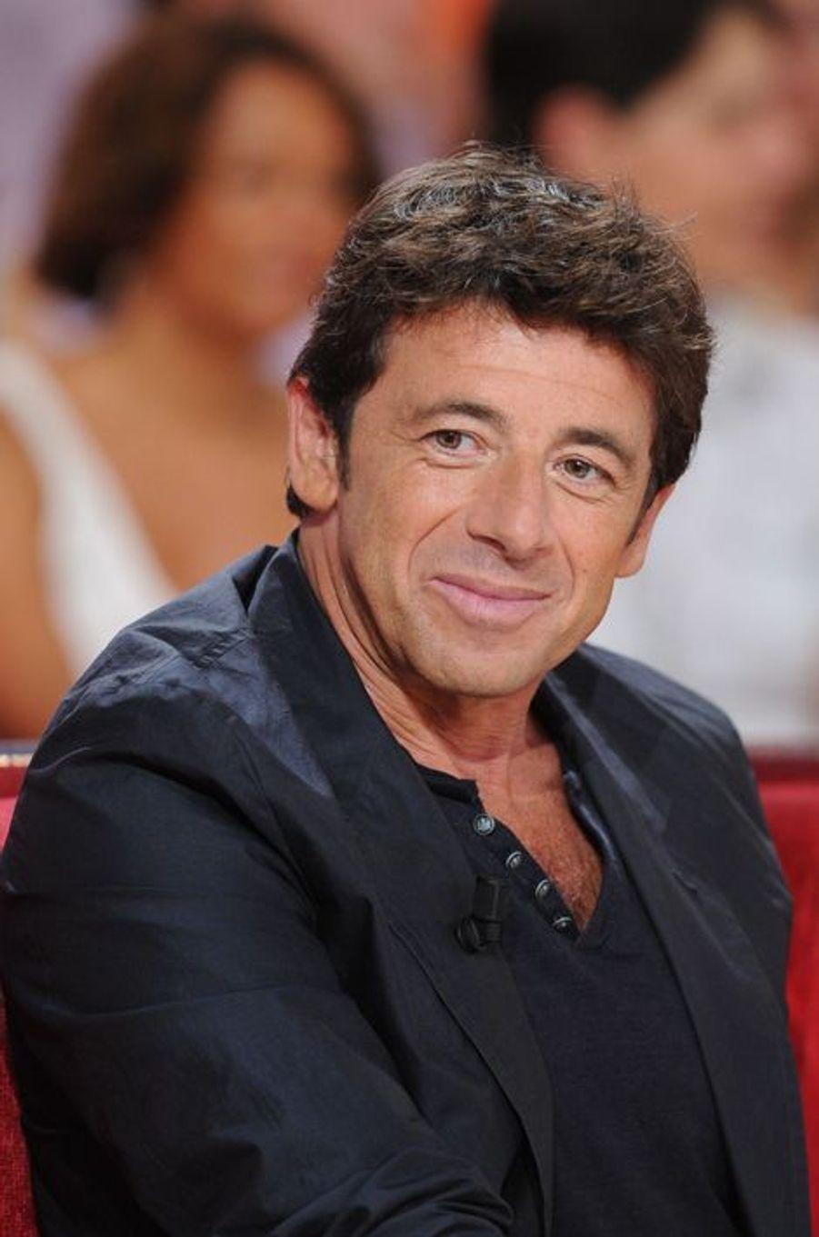 Patrick Bruel lors de l'enregistrement de «Vivement Dimanche» Sophie Marceau sur France 2 le 17 septembre 2014.